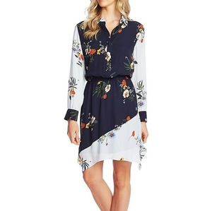Vince Camuto Floral-Print Shirtdress
